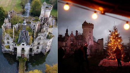 Pasaulinio dėmesio sulaukusią griūvančią pilį Kalėdoms papuošė bendraminčiai – įgyvendino savo svajonę