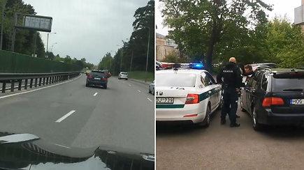 Neblaivų vairuotoją pamatęs Benediktas Vanagas neliko abejingas: vijosi jį 15 km ir padėjo policijai