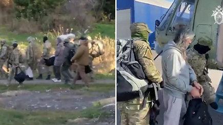 """Nufilmuota, kaip Rusijos specialiosios pajėgos sulaikė """"Sibiro Jėzų"""" –  operacijoje dalyvavo ginkluoti kariai ir sraigtasparniai"""