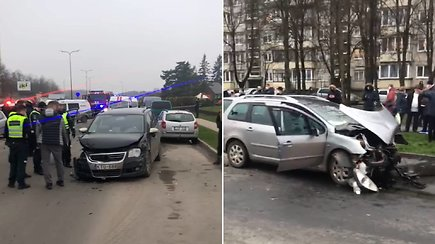 Per avariją Kaune ketvirtadienį nukentėjo su vaiku keliavusi moteris
