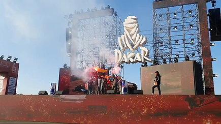 Paskutinį kartą kartu ant Dakaro podiumo – Antanas Juknevičius ir Darius Vaičiulis
