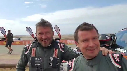 Dakaro finiše – A.Juknevičiaus su D.Vaičiuliu ir E.Juškausko su A.Paliukėnu duetai