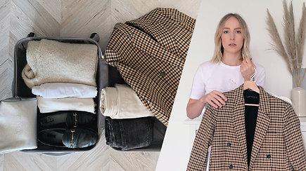 Pakuojame lagaminą trumpai kelionei: 7 patarimai, kaip sutalpinti daiktus ir atrodyti stilingai