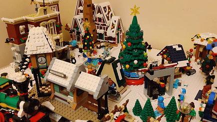 Šventės į vilniečio A.Mecutos namus atkeliavo kartu su kalėdiniu miesteliu
