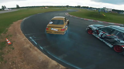 """Simono Vilčinsko viražai su """"BMW E46 Coupe"""" bolidu Lietuvos drifto čempionate"""