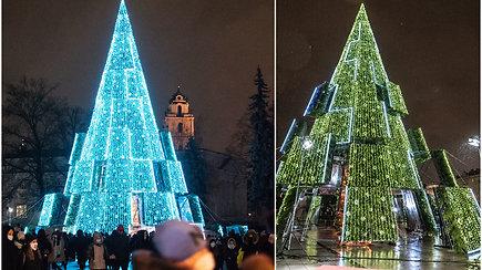 Į Vilnių ateina Kalėdos: Katedros aikštėje įžiebiama pagrindinė šalies eglė