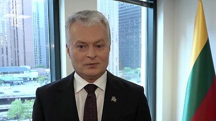 Prezidento videokomentaras po susitikimų su Čikagos lietuvių bendruomene