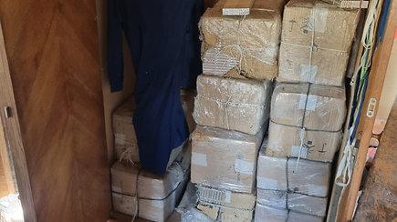 Šalčininkų pareigūnai aptiko didelį kiekį kontrabandinių rūkalų