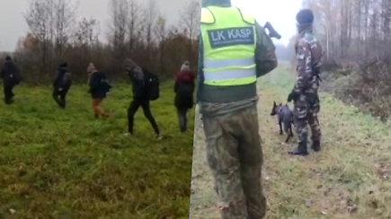 Nufilmuota migrantų grupelė bandžiusi antrą kartą neteisėtai patekti į Lietuvą