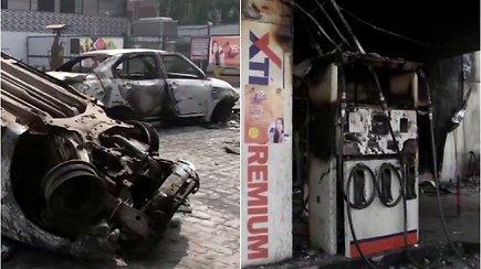 Per susirėmimus Indijos sostinėje žuvo mažiausiai 7 žmonės, dar apie 150 sužeistų