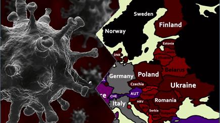 Pamatykite, kaip atrodė žaibiškas koronaviruso plitimas visoje Europoje