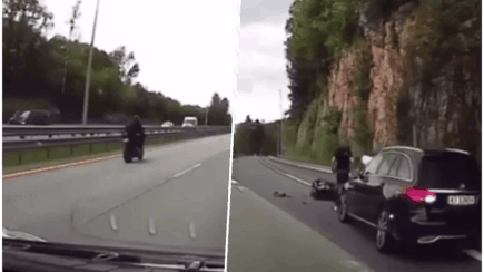Gaudynės virto tragedija: Norvegijos policijos automobilis rėžėsi į greitį viršijusį motociklininką