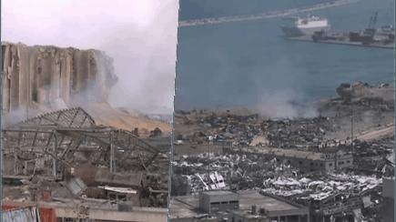 Sprogimas Beirute  su žeme sulygino beveik visą uostą, gyvybiškai svarbų ekonominės krizės kamuojamai šaliai