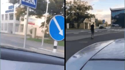 Panevėžyje keleivis nufilmavo teisių neturinčio vairuotojo avariją