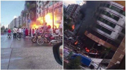 Netikėtai užfiksavo siaubingą akimirką – sprogimo banga apgriovė visus aplinkinius pastatus