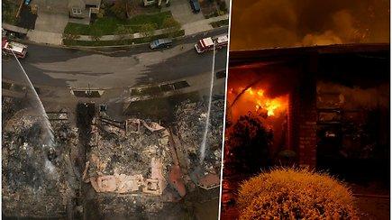 Kaliforniją siaubiantys gaisrai tik didėja – kai kurie evakuoti gyventojai į savo namus nebegrįš