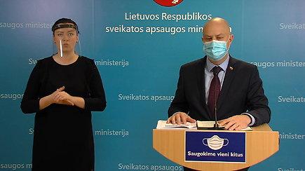 Lietuvoje – 413 naujų koronaviruso atvejų: A.Veryga apie naujausią informaciją ir COVID-19 valdymą