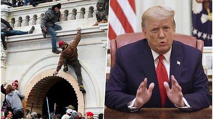 Savaitė po JAV Kapitolijaus šturmo: 2 apkalta D.Trumpui, uždaryti keliai ir 20 000 karių būsimo prezidento priesaikai