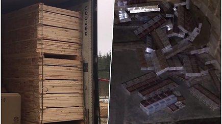 Sulaikyta stambi kontrabanda – vilkiku į Lietuvą keliavo rūkalai, kurių vertė virš 1 mln. eurų