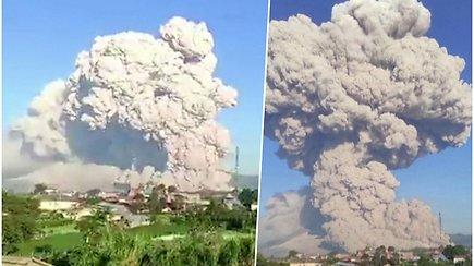 Ugnikalnis Indonezijoje ėmė spjaudytis karštais pelenais – gyventojams liepta nesiartinti