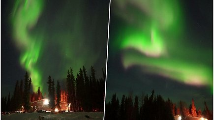 Aliaskos dangų nušvietė įspūdinga šiaurės pašvaistė – pasigrožėkite