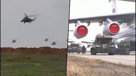 Rusija surengė karines pratybas Kryme – dalyvauja apie 10 tūkst. karių ir daugiau nei 40 karinių laivų