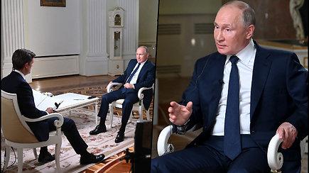 Vladimiras Putinas apie Aleksejų Navalną: man jis tik vienas iš piliečių, kurį teismas pripažino kaltu
