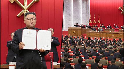 Kim Jong Unas: Šiaurės Korėja turi ruoštis tiek dialogui, tiek konfrontacijai su JAV