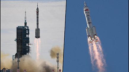 Kinijos astronautai išskrido į kosminę stotį – ten praleis tris mėnesius
