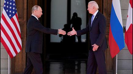 Ženevoje įvyko V.Putino ir J.Bideno susitikimas – nebuvo jokio priešiškumo