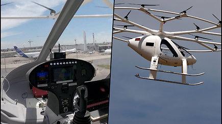 Pirmasis oro taksi skrydis Prancūzijoje – sraigtasparnis pakilo ir nusileido be piloto