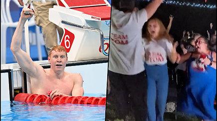 Britų plaukikas olimpiadoje iškovojo auksą – namuose turėjo budrią palaikymo komandą