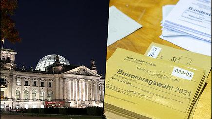 Vokietijoje prasideda nežinios periodas – rinkimų rezultatai turėtų būti paskelbti netrukus