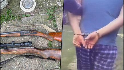 Pareigūnai rado nelegalių ginklų ir rūkalų vieno iš Šalčininkų rajono gyventojų name