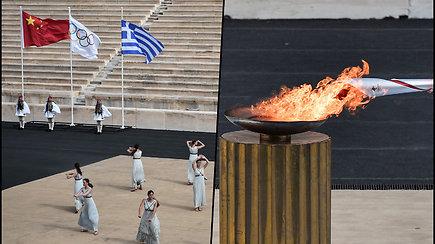 Olimpinė ugnis perduota Kinijos organizatoriams– žiemos olimpiada 2022 m. vyks Pekine