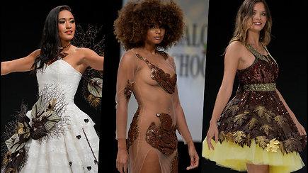 Madų šou Paryžiuje – pasižiūrėkite, kaip atrodo suknelės iš šokolado