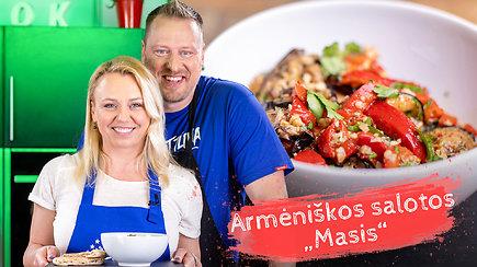 """""""Tarasovai virtuveje"""": vasariški skoniai iš Armėnijos – vegetariškos salotos """"Masis"""""""