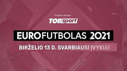 """""""Eurofutbolas 2021"""": birželio 13 d. svarbiausi įvykiai"""