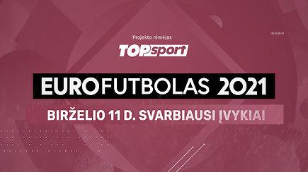 """""""Eurofutbolas 2021"""": birželio 11 d. svarbiausi įvykiai"""