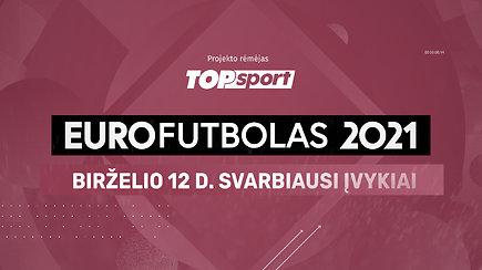 """""""Eurofutbolas 2021"""": birželio 12 d. svarbiausi įvykiai"""