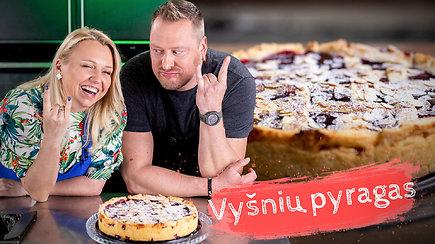 Tarasovai virtuvėje. Vasariškas desertas, kuris nepaliks abejingų – amerikietiškas vyšnių pyragas