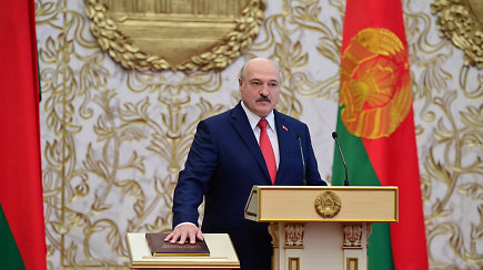 Po slaptumo skraiste: A.Lukašenka Minske šeštą kartą inauguruotas prezidentu