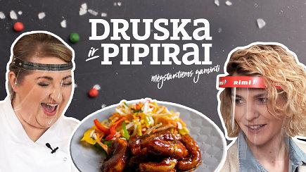 """""""Druska ir pipirai"""": gastronominė kelionė į Aziją – bekaulis karpis terijakio ir medaus padaže"""