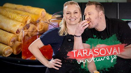 """""""Tarasovai virtuvėje"""": kaip be didelio vargo pasigaminti Springrolus ir kur slypi traškumo paslaptis?"""