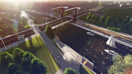 Naujojo Klaipėdos Bastionų tilto vizualizacija