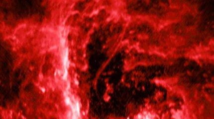Galaktikos centre aptiktas keistai švytintis siūlas