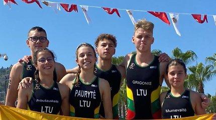 Europos jaunių triatlono čempionate – istoriniai Lietuvos pasiekimai
