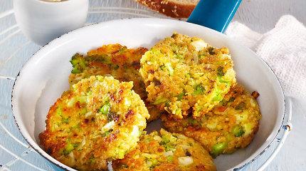 Netikėtas, bet puikus derinys: varškės ir brokolių kepsneliai