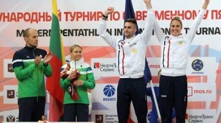 L.Asadauskaitė-Zadneprovskienė ir J.Kinderis Maskvoje iškovojo sidabrą