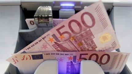 500 eurų banknoto dienos suskaičiuotos